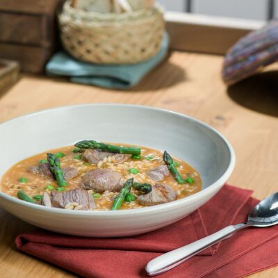 Receta de arroz caldoso con cordero