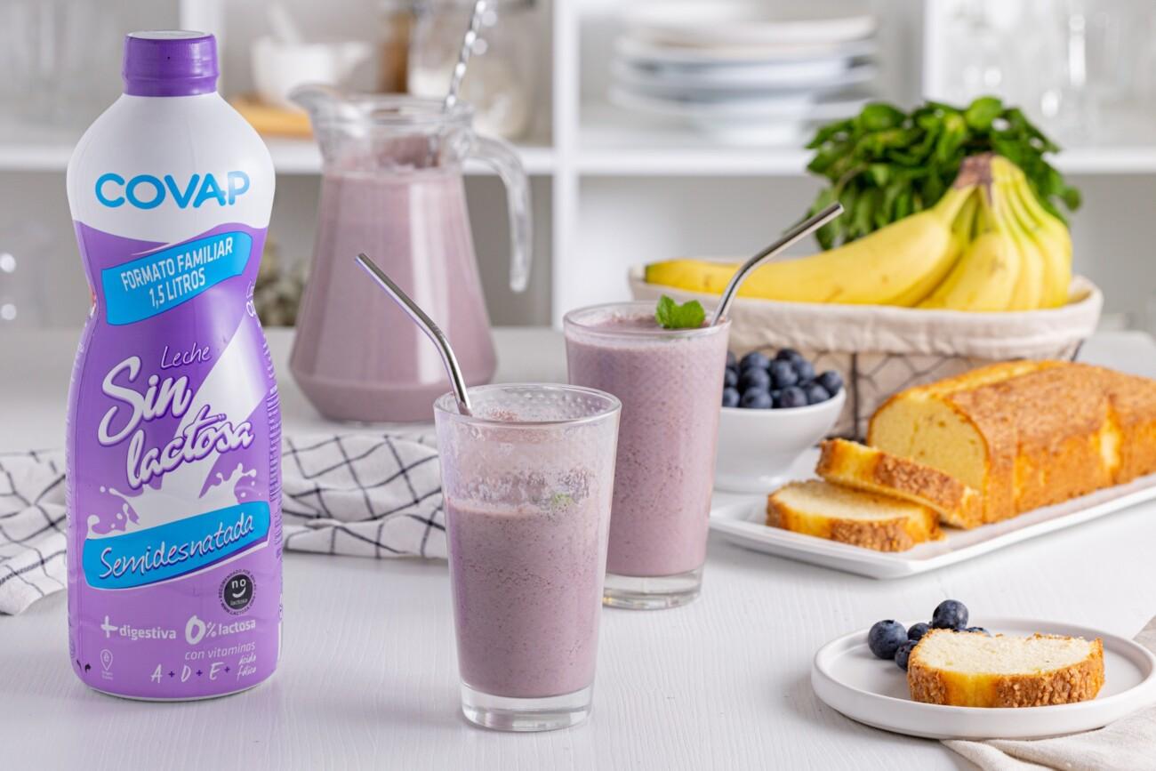 Agua de arándanos con leche COVAP